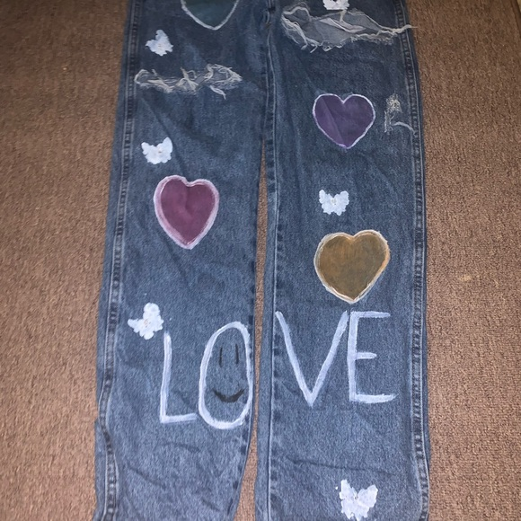 Hand Painted Rustler Jeans